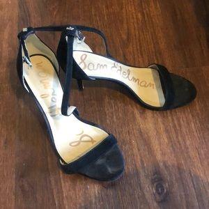 👠 Size 7 Sam Edelman Black Suede Sandal Heels